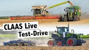 Test Drive Claas Axion 960 Terra Trac, Claas Lexion 8900 Terra Trac und Claas CEMOS | #claaslive
