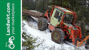 Forstarbeiten mit einem MB Trac 900