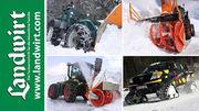 Landmaschinen im Schnee