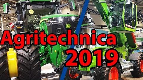 Agritechnica 2019 - Messerundgang [u.a. Fendt Teleskoplader, John Deere 8RX, Claas Xerion]