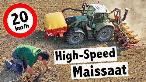 High Speed Maissaat mit Väderstad Tempo V8 und Fendt 724 Vario