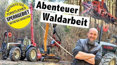 Holzernte mit Seilbahn | TST Junior und Bagger Prozessor Timbernator | Polleros Holztransporte