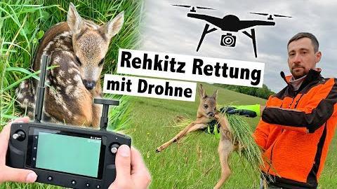 Rehkitzrettung mit Drohne und Wärmebildkamera