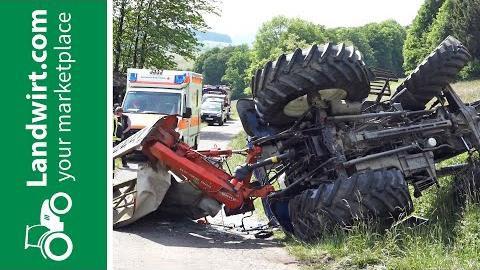 Traktorunfälle: Verletzungen durch Sicherheitsgurte vermeiden
