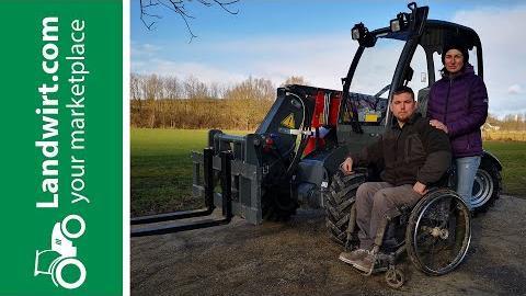 Der Weidemann für einen Rollstuhlfahrer